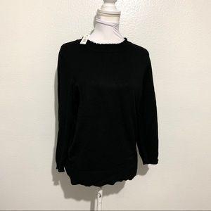 NWT - Max Studio Black 3/4 Sleeve Sweater